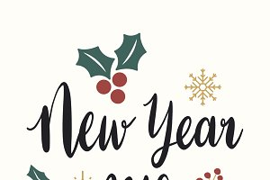 New Year 2019 greeting vector