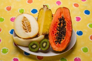 Still life of tropical fruits (2)