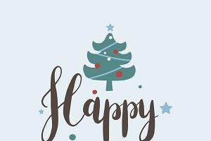 Christmas greeting badge