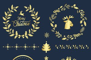 Christmas greeting badges