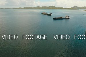 Aerial Cargo and passenger ships in