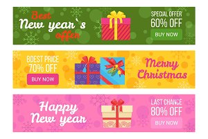 Colorful Set of Sale Banners Best