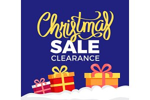 Christmas Sale Clearance Poster with
