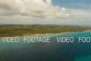 Coast of tropical island.
