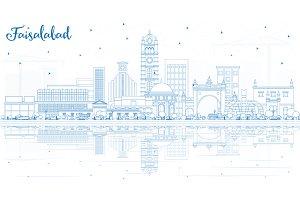 Outline Faisalabad Pakistan City