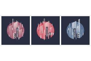 City dimensions. Vector t-shirt