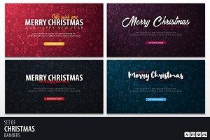 Colorful Christmas banners
