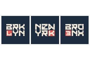 Brooklyn Bronx New York t-shirt and
