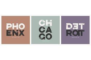 Phoenix Chicago Detroit cities t