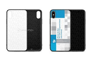 iPhone Xs Max 2d TPU with Glass Back