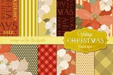 Vintage Christmas Digital Papers