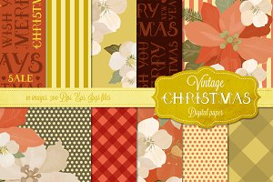 Vintage Christmas Digital Papers