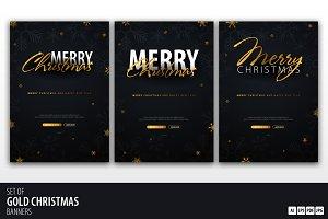 Dark&Gold Christmas Banners