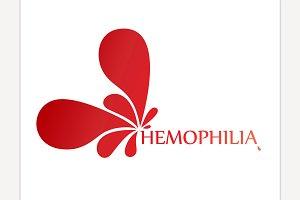 Hemophlia vector icon
