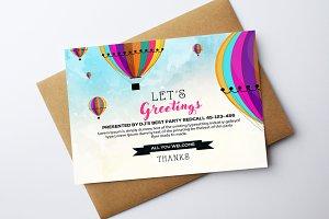 Multi Use Greetings Card Template