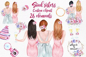 Bridesmaid Best friends clipart
