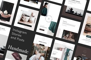Handmade Social Media Pack for Canva