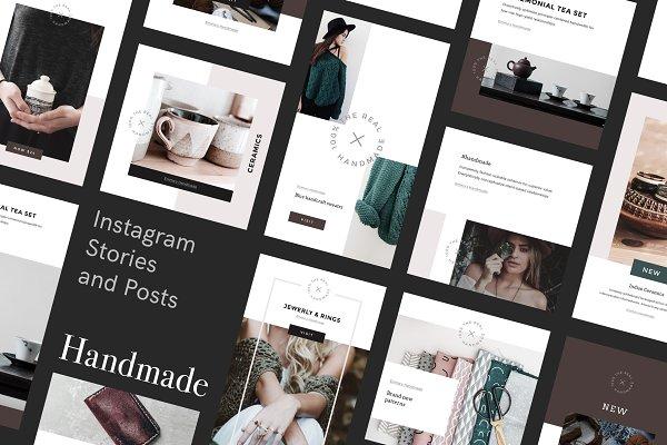 Handmade Canva Social Media Pack