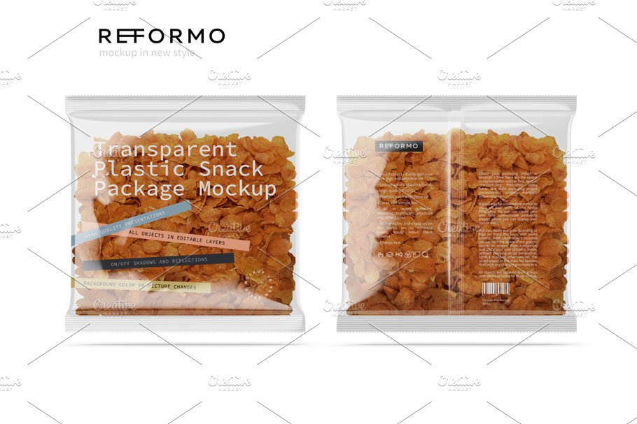 Transparent Plastic Snack Package