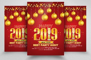 New Year Psd Flyer Templates