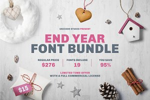 End Year Font Bundle