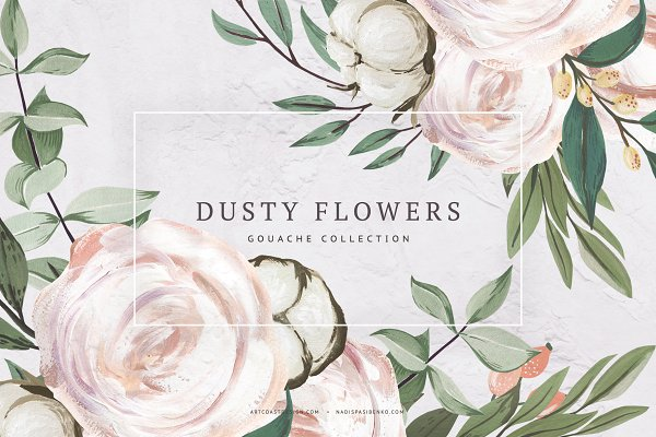 Illustrations and Illustration Products: Spasibenko Art - Gouache Dusty Flowers