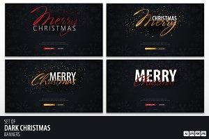 Dark Christmas Banners