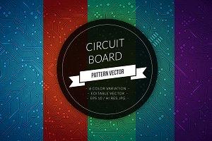 Circuit Board Vector Pattern