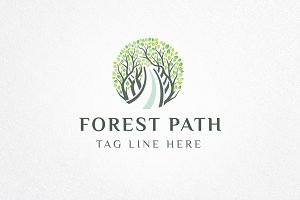 Forest Path Logo Template