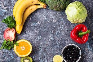 Foods rich in vitamin C. Healthy