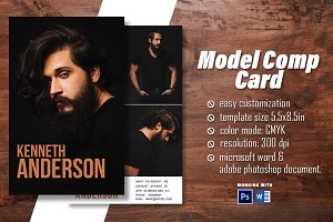 Model Comp Card Template V2
