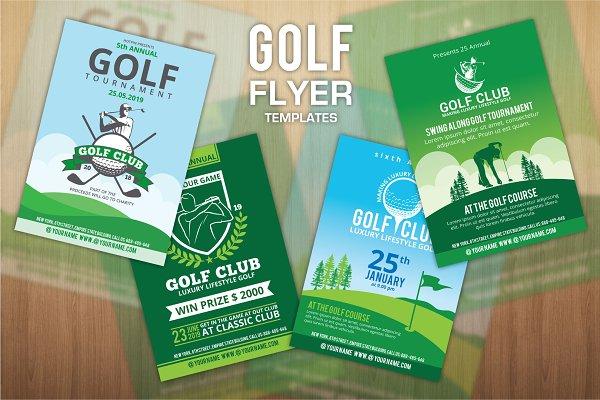4 Golf Flyers Template