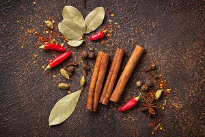 Spices masala for cooking Indian