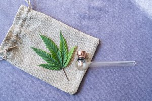 Marijuana Leaf with Pipe