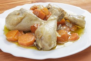 Chicken with carrots stew