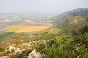 Picturesque valley in the Israeli Ga