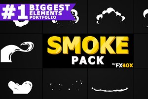 2D FX SMOKE Elements Motion Graphics