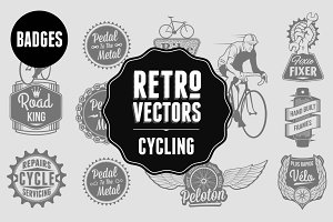 Retro Cycling Badges
