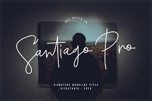 Santiago Pro - Signature / Free Logo
