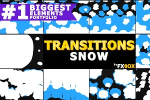 Snow Transitions Motion Graphics