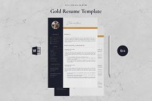Resume Template 4 Page - Gold