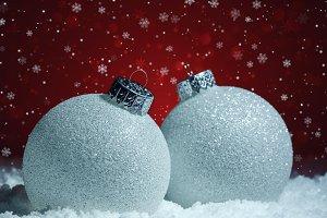 White christmas balls decoration