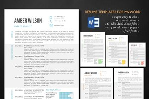 3 in 1 modern chart Word resume