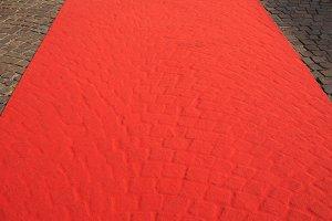 blank red carpet