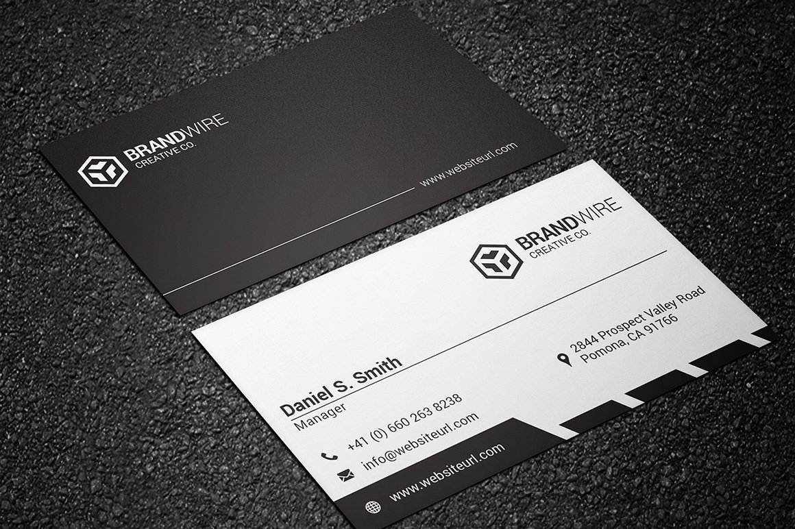 Simple black white business card business card templates simple black white business card business card templates creative market magicingreecefo Gallery