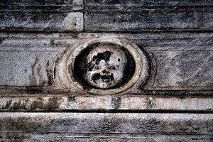 Antique bas-relief architectural det