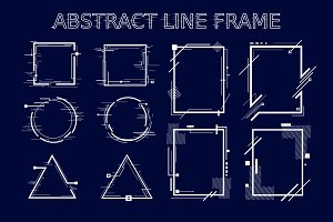 New Abstract Line Frames