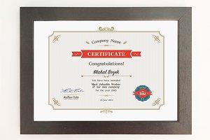 Certificate - A4 format - PSD