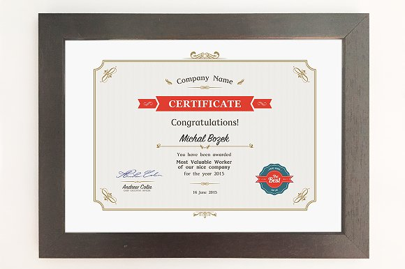Certificate a4 format psd stationery templates creative market certificate a4 format psd stationery yelopaper Choice Image