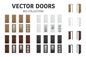 Doors. Vector set.